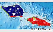 Flag Map of Samoa, physical outside