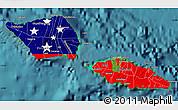 Flag Map of Samoa, satellite outside