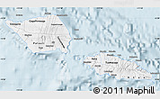 Gray Map of Samoa
