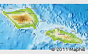 Physical Map of Samoa, shaded relief outside