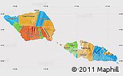 Political Map of Samoa, cropped outside