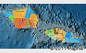 Political Map of Samoa, darken