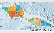 Political Map of Samoa, lighten