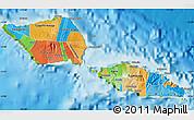 Political Map of Samoa, physical outside
