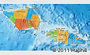 Political Map of Samoa, political shades outside