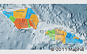 Political Map of Samoa, semi-desaturated