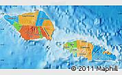 Political Map of Samoa, single color outside