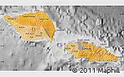 Political Shades Map of Samoa, desaturated