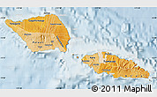 Political Shades Map of Samoa, lighten