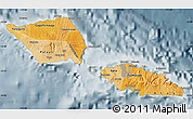 Political Shades Map of Samoa, semi-desaturated