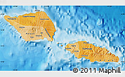 Political Shades Map of Samoa, single color outside