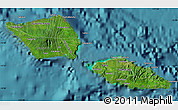 Satellite Map of Samoa