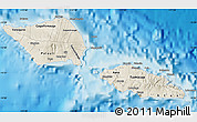 Shaded Relief Map of Samoa