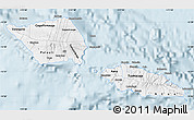 Silver Style Map of Samoa