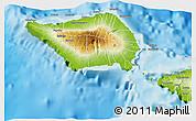 Physical 3D Map of Palauli