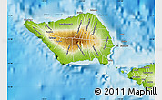 Physical Map of Palauli