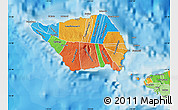 Political Shades Map of Palauli