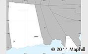 Gray Simple Map of Palauli le Falefa