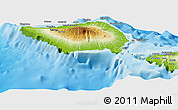 Physical Panoramic Map of Palauli