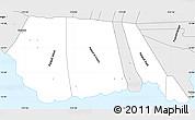 Silver Style Simple Map of Palauli