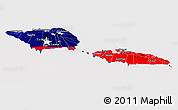 Flag Panoramic Map of Samoa
