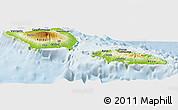 Physical Panoramic Map of Samoa, lighten