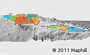 Political Panoramic Map of Samoa, desaturated