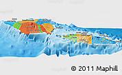 Political Panoramic Map of Samoa