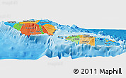 Political Panoramic Map of Samoa, single color outside