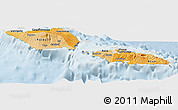Political Shades Panoramic Map of Samoa, lighten
