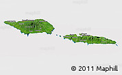 Satellite Panoramic Map of Samoa, cropped outside