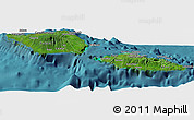 Satellite Panoramic Map of Samoa