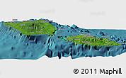 Satellite Panoramic Map of Samoa