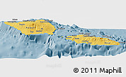 Savanna Style Panoramic Map of Samoa