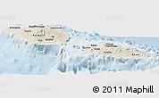 Shaded Relief Panoramic Map of Samoa, lighten