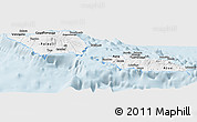 Silver Style Panoramic Map of Samoa