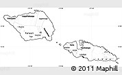 Blank Simple Map of Samoa, cropped outside
