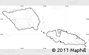 Blank Simple Map of Samoa, no labels