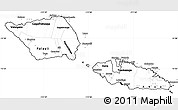 Blank Simple Map of Samoa