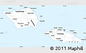 Classic Style Simple Map of Samoa