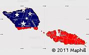 Flag Simple Map of Samoa, flag centered