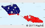 Flag Simple Map of Samoa, single color outside
