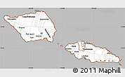 Gray Simple Map of Samoa, cropped outside