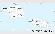 Gray Simple Map of Samoa, single color outside
