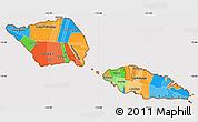 Political Simple Map of Samoa, cropped outside