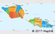 Political Simple Map of Samoa