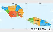 Political Simple Map of Samoa, single color outside