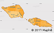 Political Shades Simple Map of Samoa, cropped outside