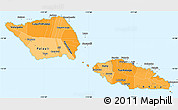 Political Shades Simple Map of Samoa