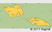 Savanna Style Simple Map of Samoa, cropped outside